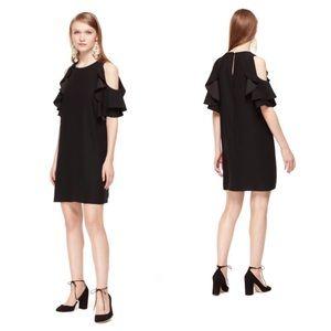 Kate Spade (NEW) Cold Shoulder Black Dress